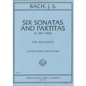 Bach, JS - 6 Sonatas and Partitas for Viola - Arranged by Meyer-Vieland - International Edition
